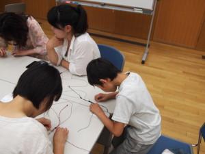 パワーストーン 編み ブレスレット 講座 教室 子供