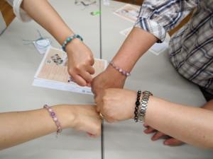 パワーストーン 編み ブレスレット 講座 教室