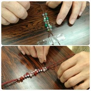 編みブレス 編み方