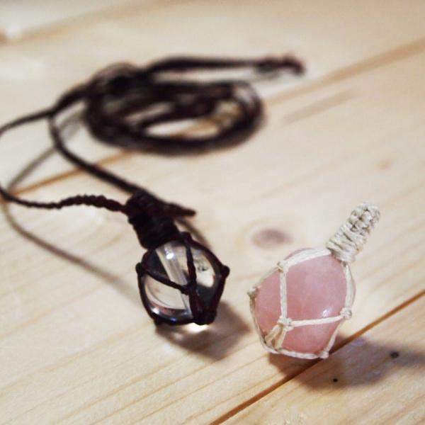 包み編み ネックレス ペンダントトップ 手作り 教室