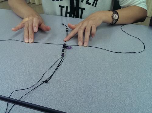 勾玉 編み ブレスレット 教室