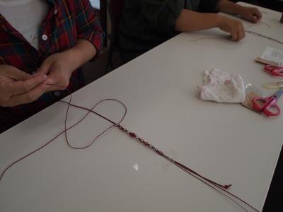手作り 編みブレスレット 作り方 パワーストーン