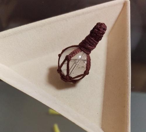 包み編み ペンダント トップ 作り方