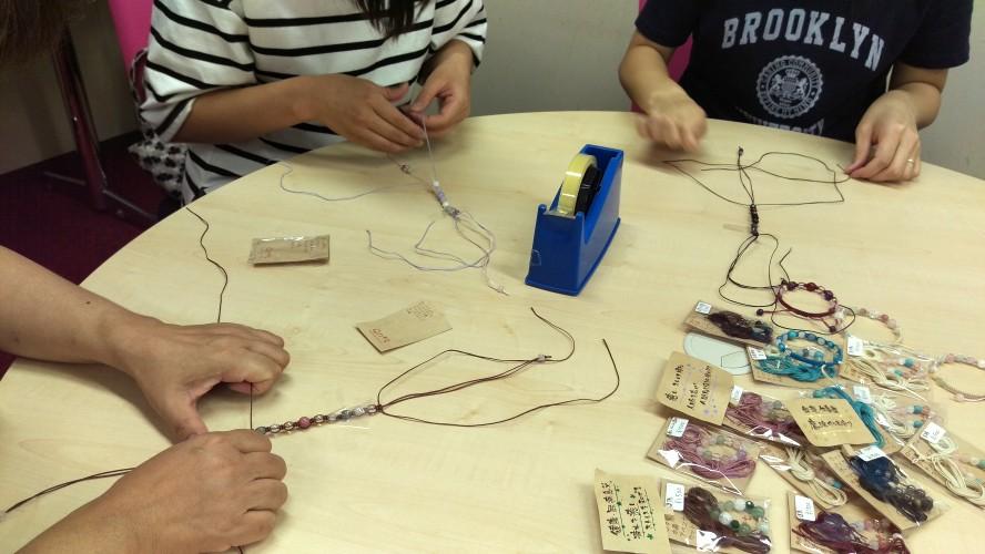編みブレスレット 手作り講座 教室 住友生命