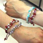 【松江市・出雲市】天然石で作る、夏向けパステルカラーの編みブレスレット!