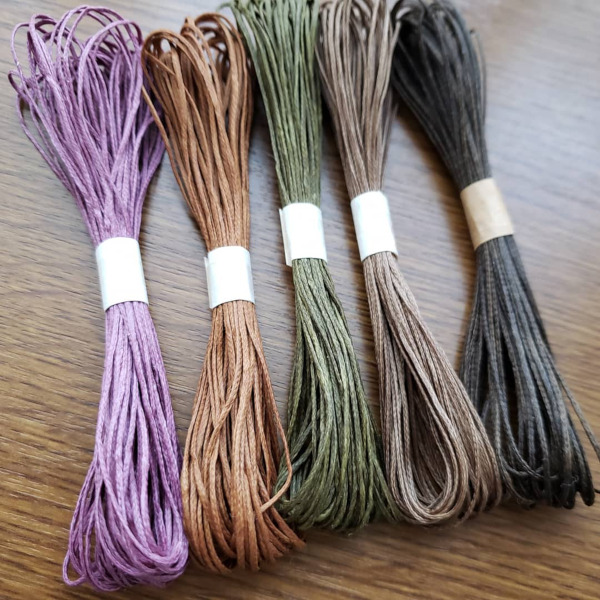 ロウビキ紐 安い パワーストーン 天然石 アクセサリー ブレスレット 作り方 編み方